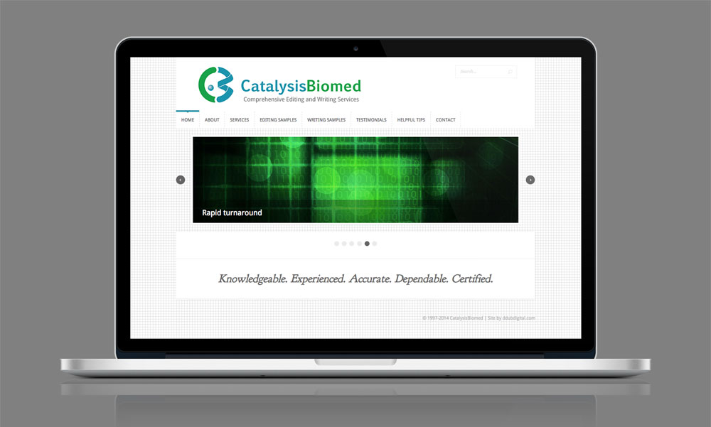 CatalysisBiomed.com on Macbook