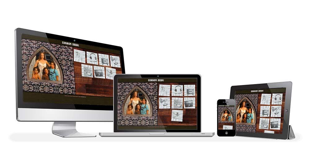 ConnorDesai.com responsive layouts