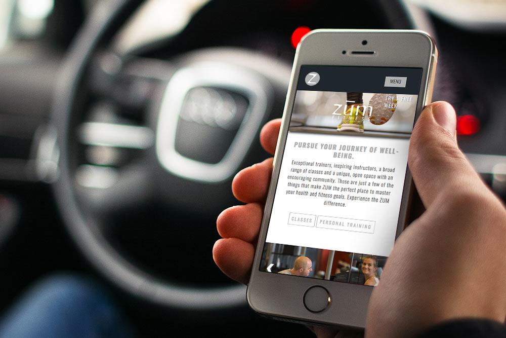 ZUM Fitness optimized for mobile