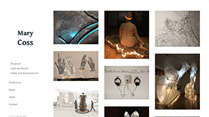 Portfolio site for Seattle visual artist