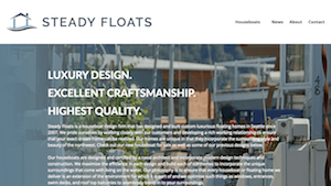 Steady Floats, New and Modern Houseboats for sale